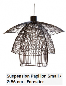 suspension papillon