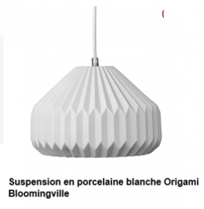 suspension porcelaine