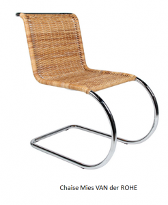 Tables chaises armonisa - Chaise mies van der rohe ...