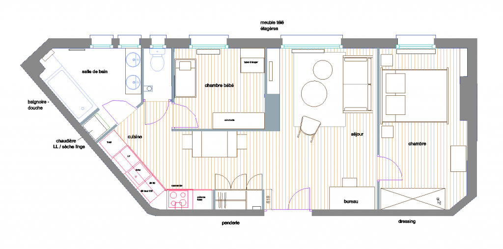plan appartement Vincennes