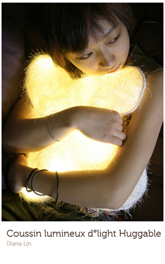 Arty. lampe-coussin