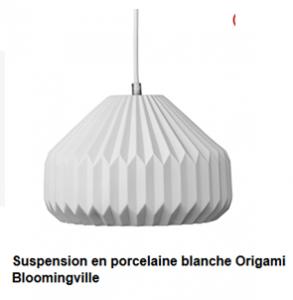 suspension porcelaine