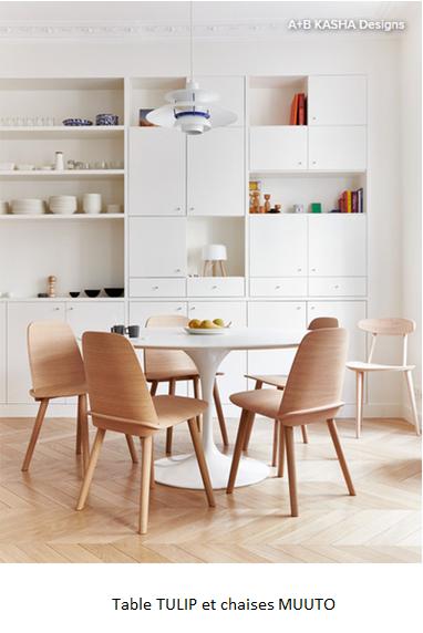 Table TULIP et chaises MUUTO