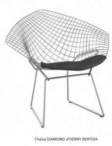 chaise DIAMOND d'HENRY BERTOIA