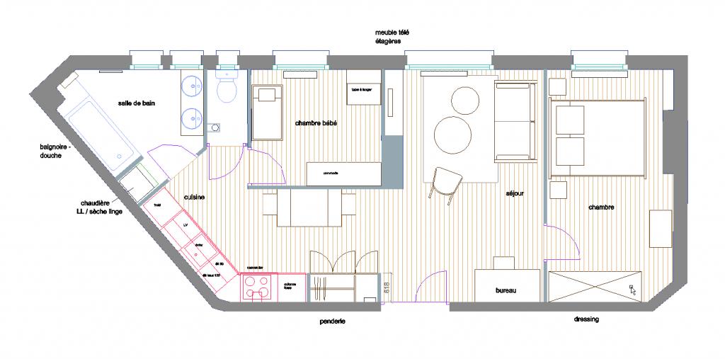 plan appartement Vincennes